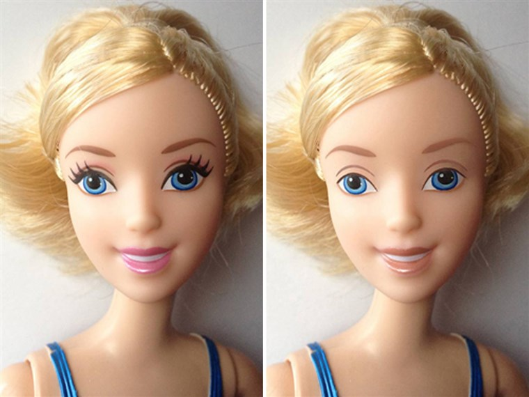 А Disney doll with makeup removed