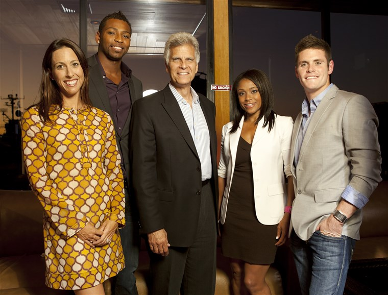 David Boudia, Janet Evans, Cullen Jones, Dominique Dawes, Mark Spitz,