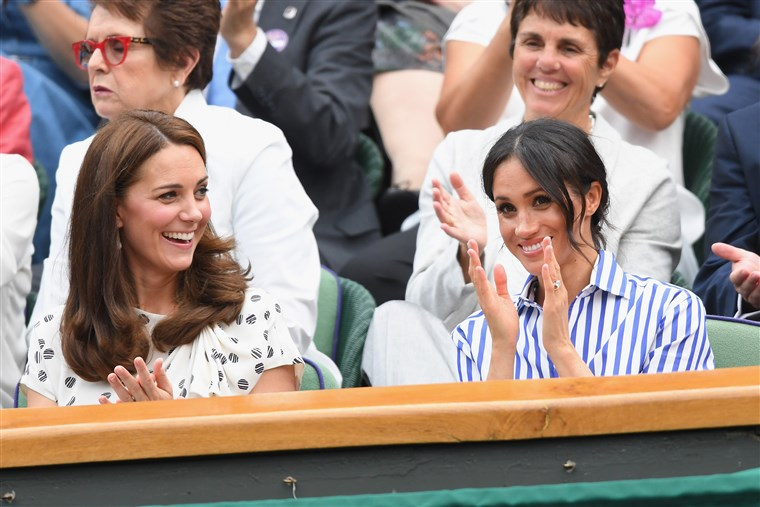 Катрин Duchess of Cambridge and Meghan Duchess of Sussex at Wimbledon 2018