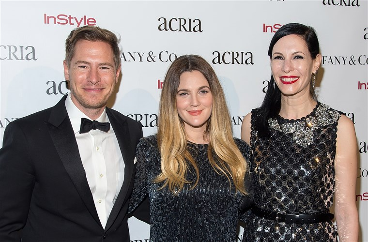 Ще Kopelman, Drew Barrymore, and Jill Kargman