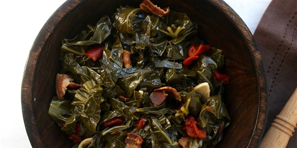 慢炖锅 Collard Greens with Bacon