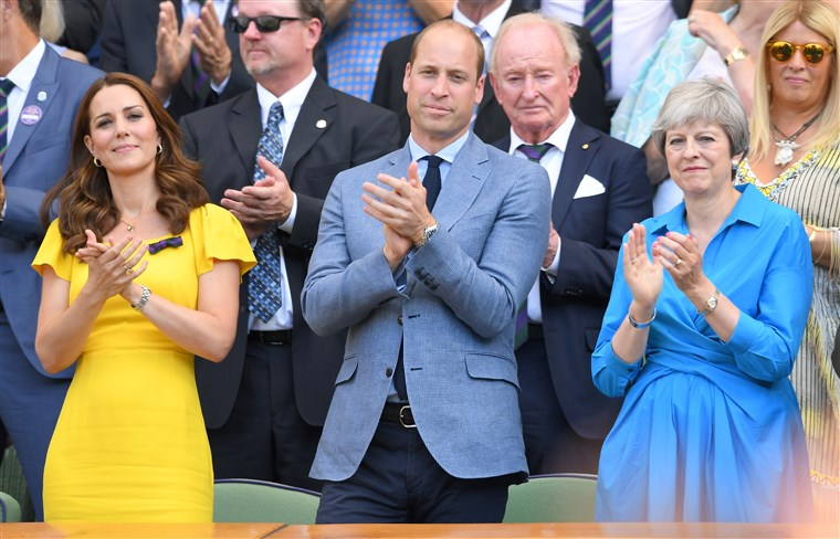 وليام Kate and Teresa May Wimbledon