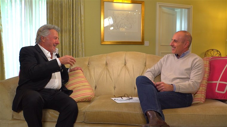Obraz: Dustin Hoffman speaks with TODAY's Matt Lauer on upcoming role