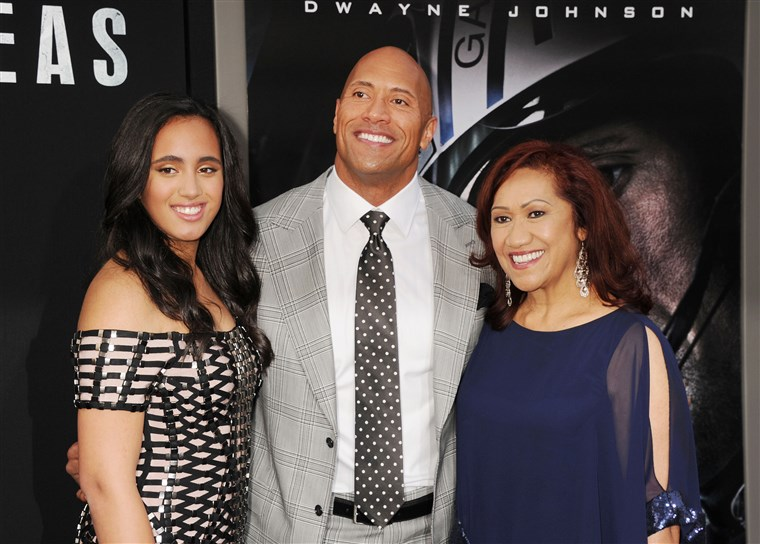 Dwayne The Rock Johnson with his daughter Simone