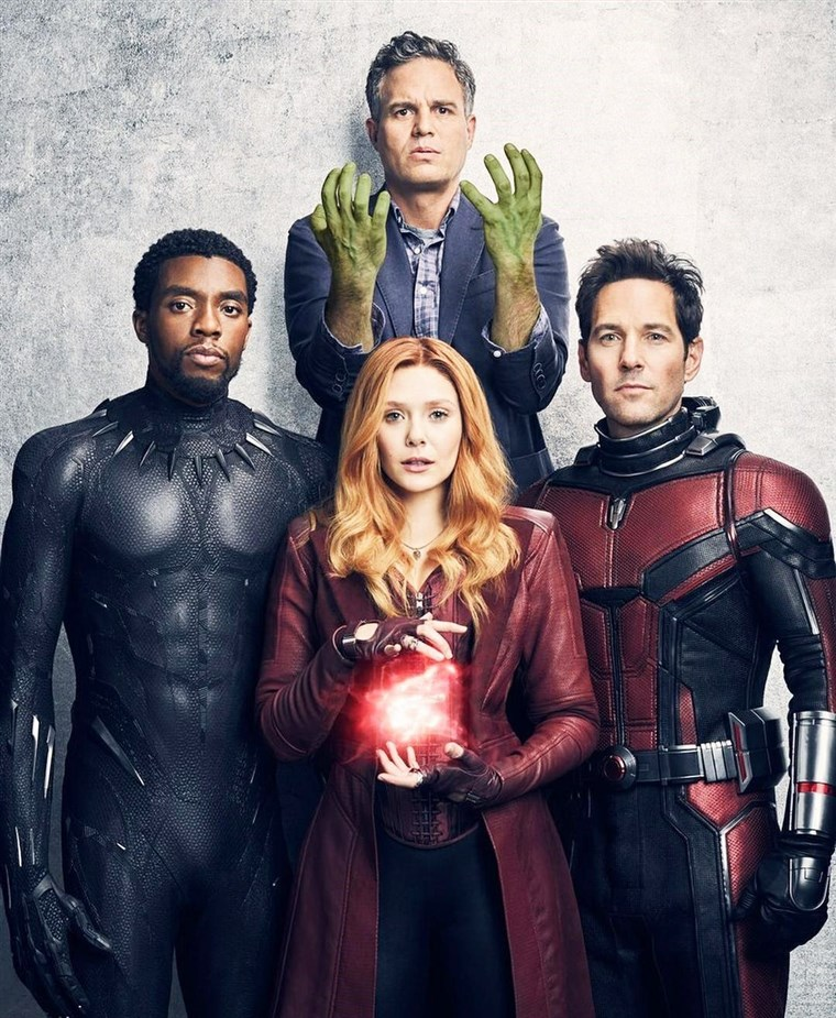 Chadwick Boseman, Mark Ruffalo, Elizabeth Olsen and Paul Rudd in