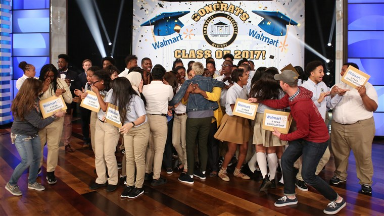 Най- students at Brooklyn's Summit Academy Charter School on the Ellen DeGeneres show