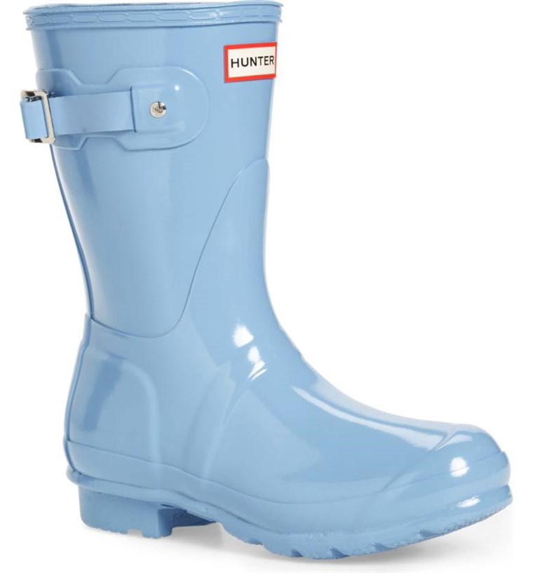 ловец short rain boot in blue