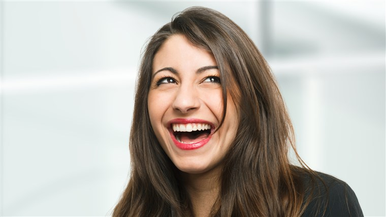 Портрет of a very happy woman laughing; Shutterstock ID 130210283; PO: laugh-stock-tongue-twister-today-tease-151106; Client: TODAY Digital