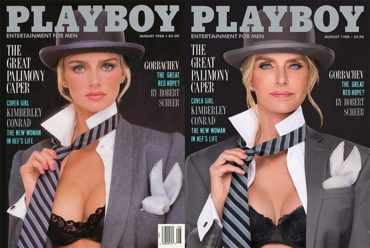 Kimberly Conrad Hefner, who was on the August 1988 cover