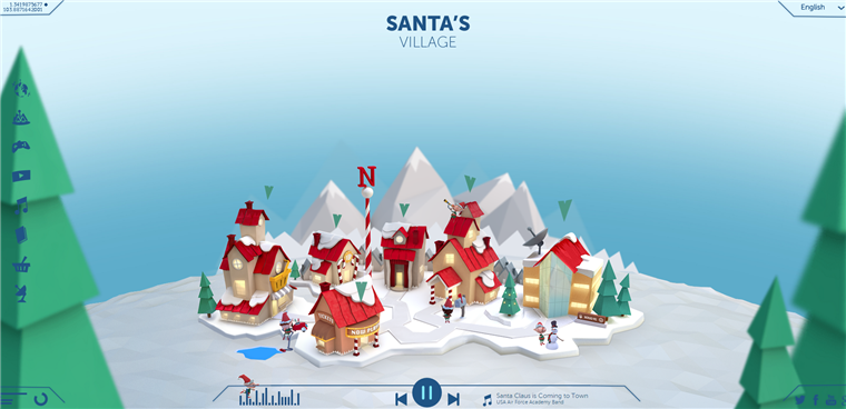 The NORAD Santa Tracker website shows kids where Santa is traveling to on Christmas Eve.