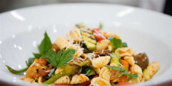 Къртис Stone's Orecchiette with Grilled Zucchini and Tomato
