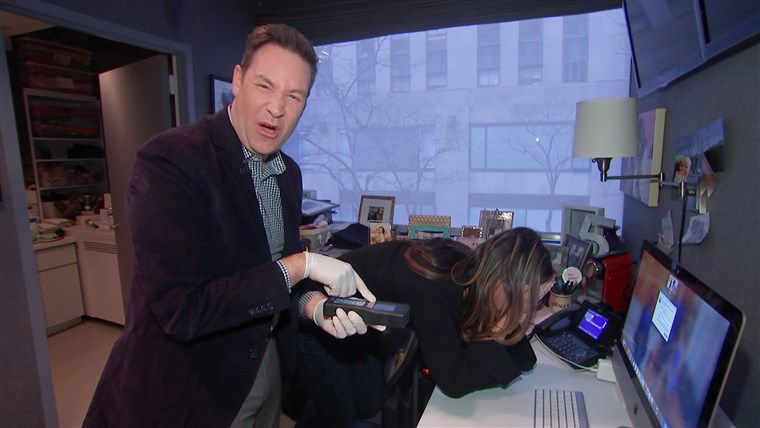 Jeff Rossen tested Savannah Guthrie's keyboard for germs.
