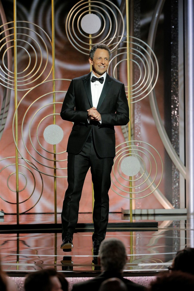 صورة: Seth Meyers hosts the 75th Golden Globe Awards in Beverly Hills, California,