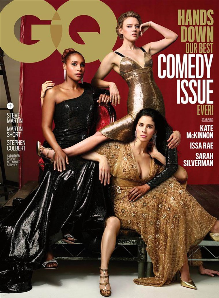 凯特 McKinnon, Issa Rae and Sarah Silverman on GQ cover