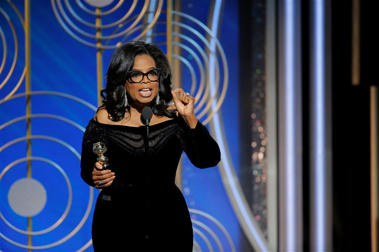 Oprah Winfrey speaks after accepting the Cecil B. Demille Award
