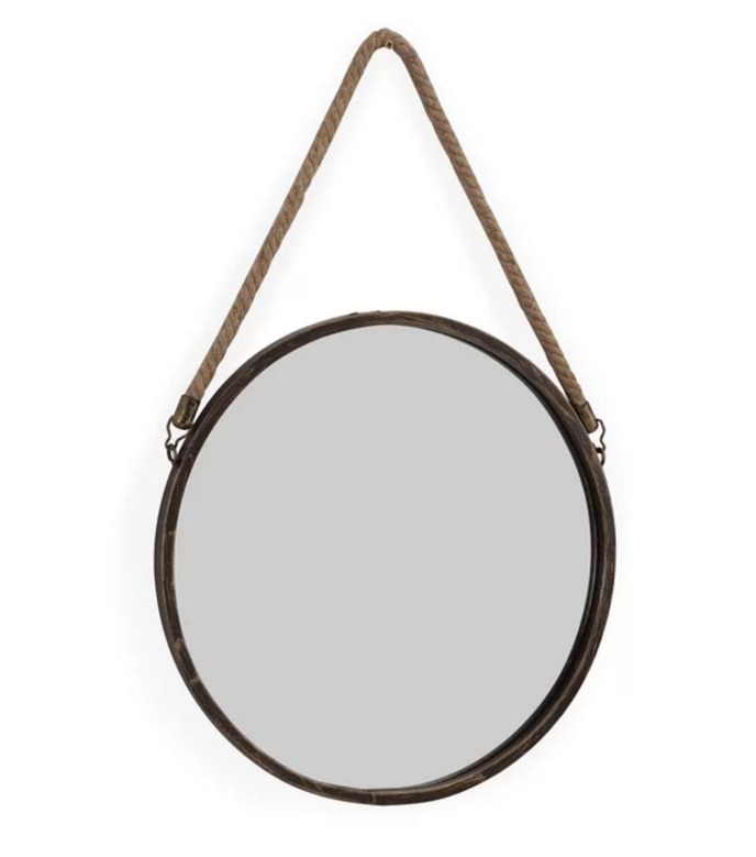 Runden hanging wall mirror