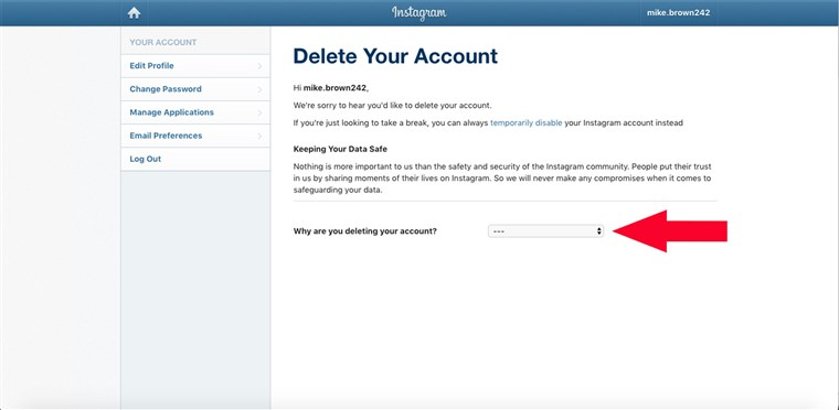 Wie to delete Instagram account, how to deactivate Instagram account