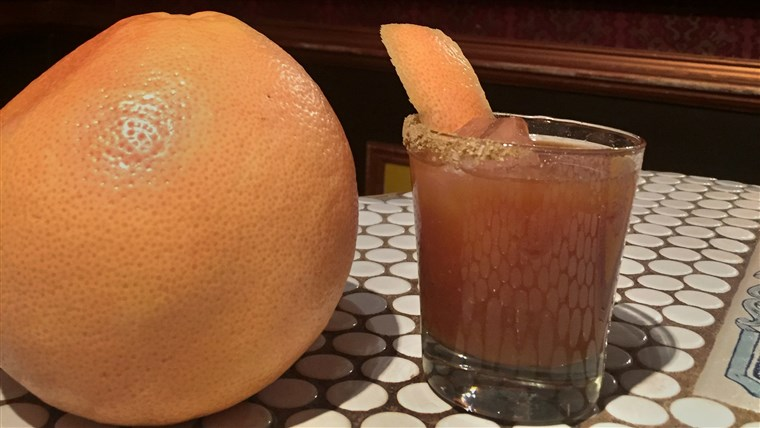 ال Citrus Hunter, a grown up Jägermeister cocktail