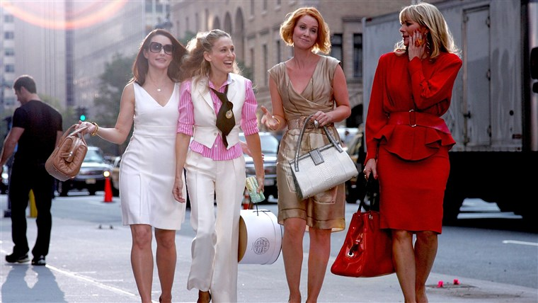 图片: Kristin Davis, Sarah Jessica Parker, Cynthia Nixon and Kim Cattrall on Location for
