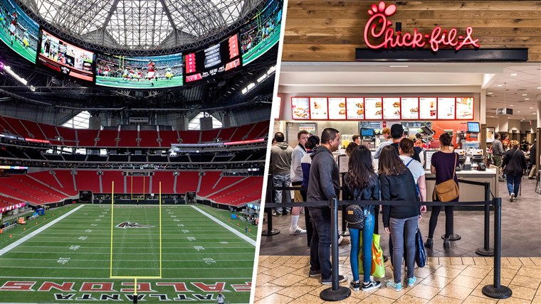 Küken-fil-A's new Atlanta Falcons stadium location
