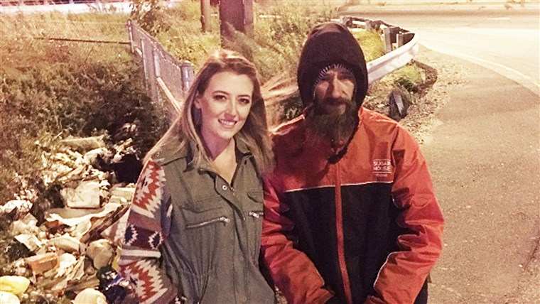 Kate McClure and Johnny Bobbitt, Jr., the homeless man who paid for her gas with his last $20. ( Kate McClure/ GoFundMe)