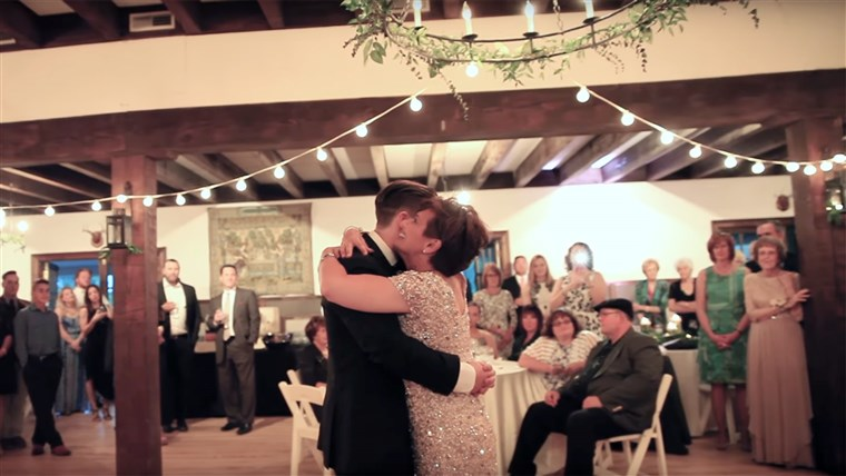 Mutter with MS shares dance with son at his wedding