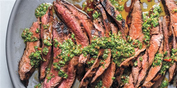 ناتالي Morales' Grilled Chimichurri Soy Steak