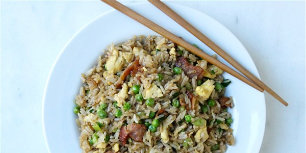 15 Minuten Bacon and Egg Fried Rice