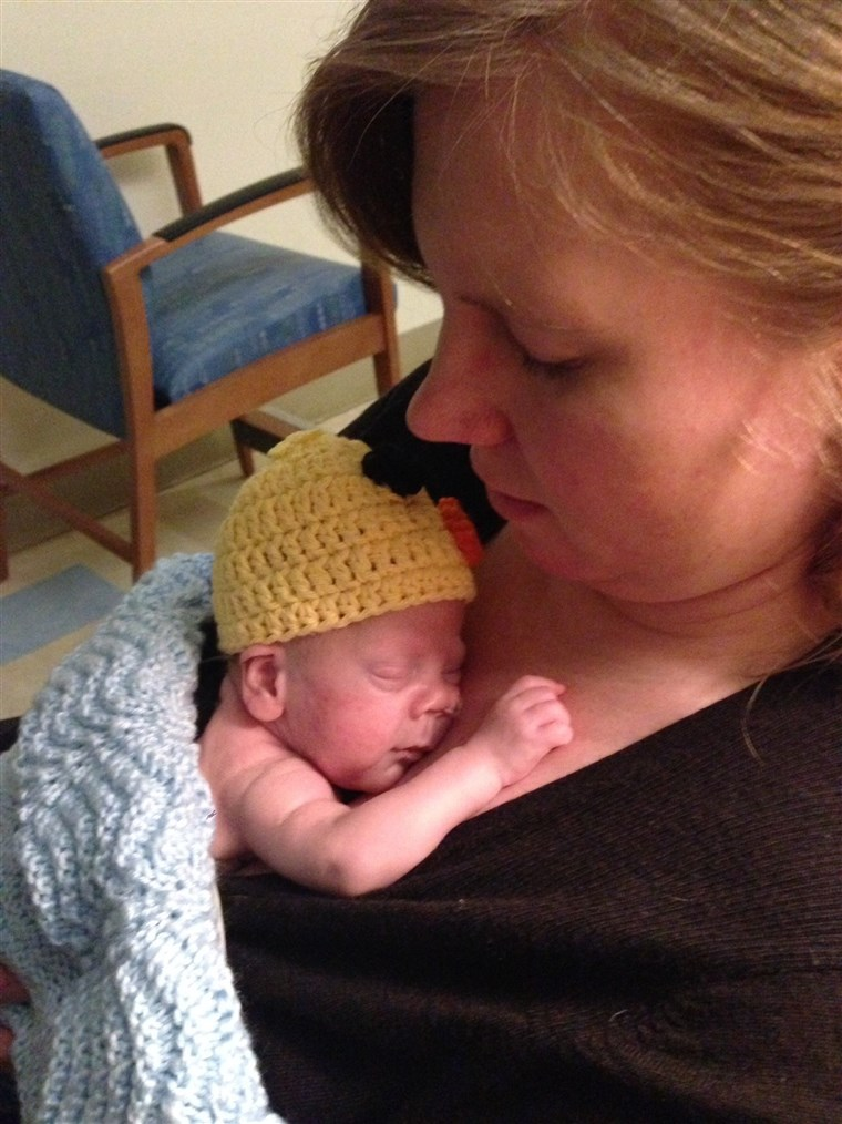 Nach Wyatt's birth, Sarah says she and her family spent 117 days living in the hospital